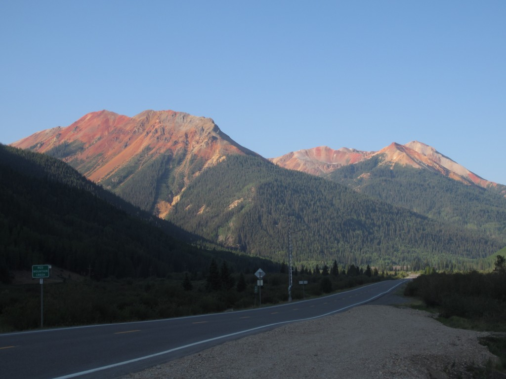 Red Mountain viewed from Hwy 550 Million Dollar Highway