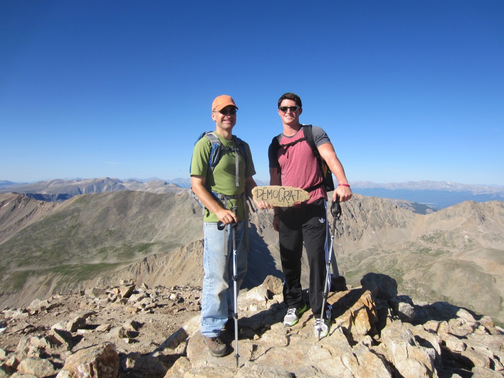 Chris and Zach on summit of Mount Democrat