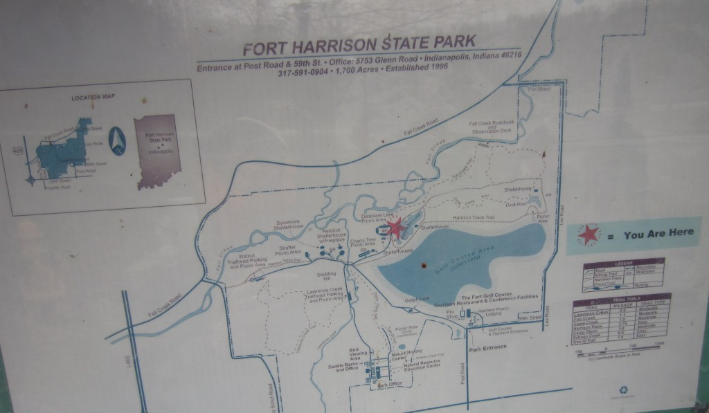 Fort Harrison State Park map