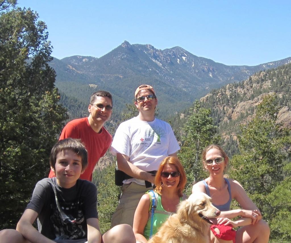 Sam, Chris, Richard, Michelle, Trish, Sammy, on Mt. Cutler