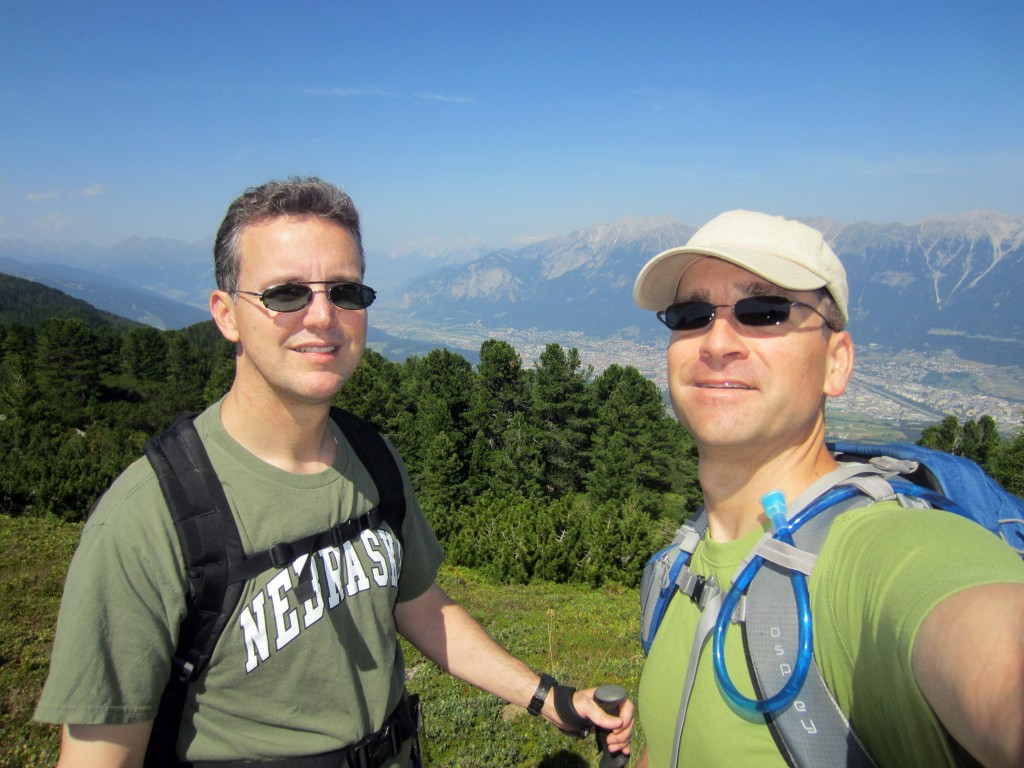 Mark and Chris above Innsbruck