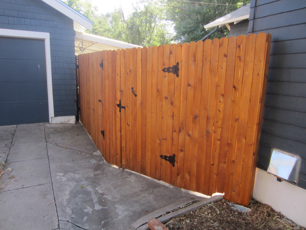 Fence front gate