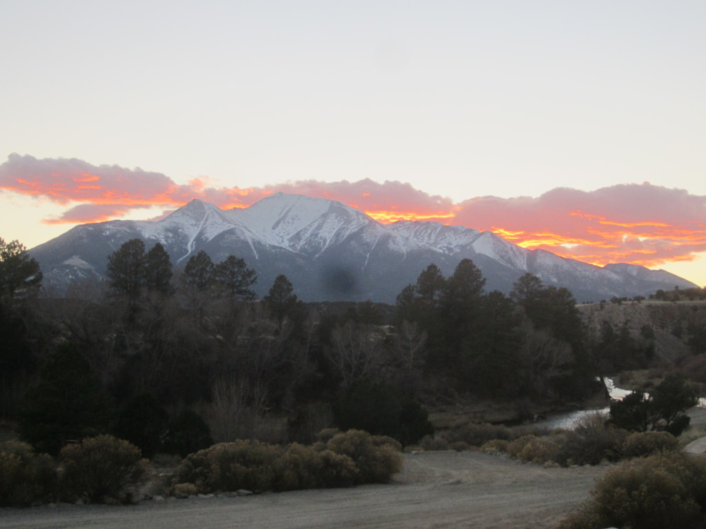 Mt. Princeton after sunset